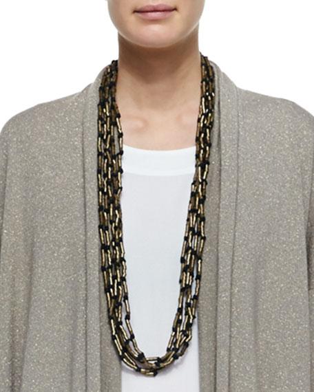 Multi-Strand Long Necklace