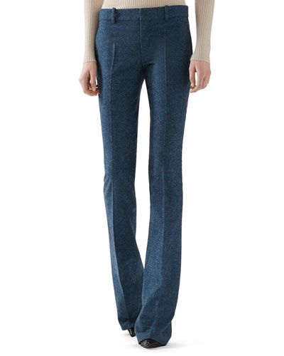 Wool Flannel Skinny Flare Pant
