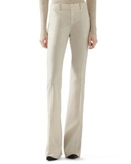 Wool Flannel Skinny Flare Pant