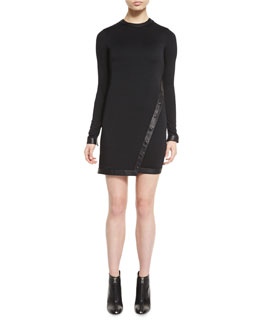 Stretch-Wool Jersey Asymmetric Dress