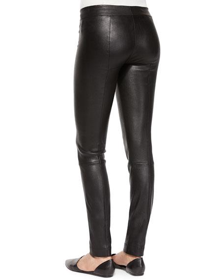 Skinny Leather Moto Leggings