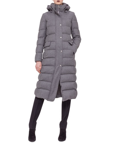 Flannel Quilted Puffer Coat