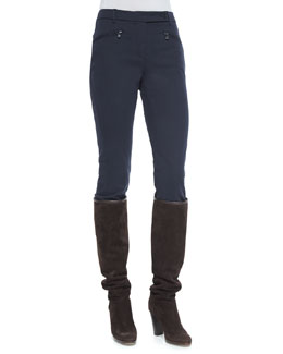 Devin Stretch Cotton Riding Pants, Catalina Blue