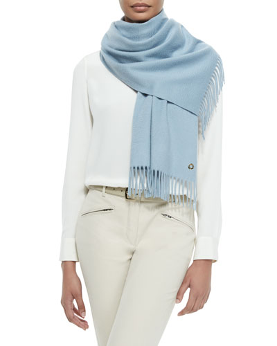 Sciarpa Grande Cashmere Scarf, Dream Blue