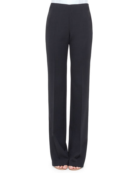 Carol Double-Face Wool Pants, Navy