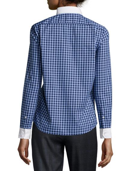 Plaid Button-Down Shirt, Blue