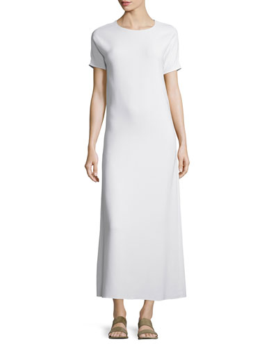 Statell Short-Sleeve Cady Midi Dress