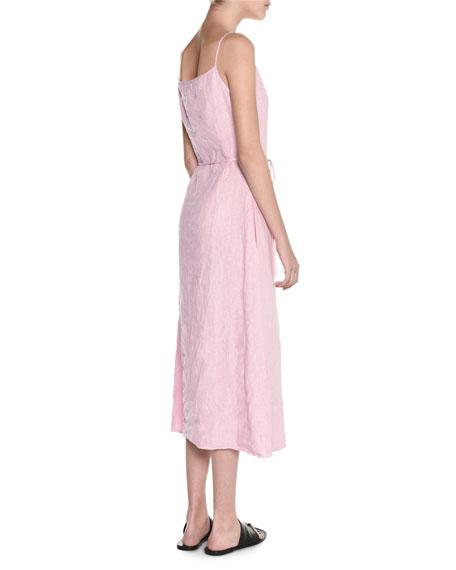 a2e3a2398a1 Tomas Maier Sleeveless Square-Neck Linen Midi Dress