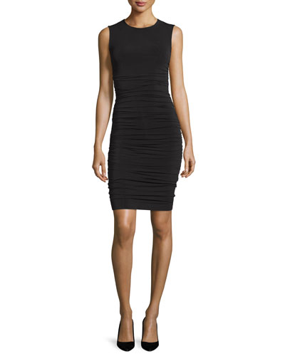 Linta Sleeveless Sheath Dress, Black