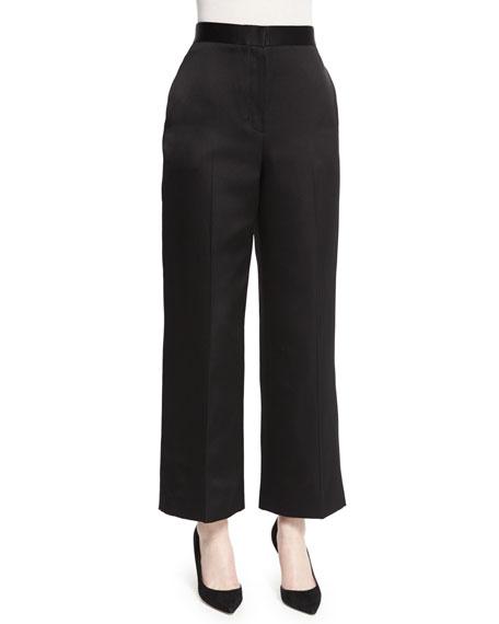 Resme Wide-Leg Cropped Pants, Black