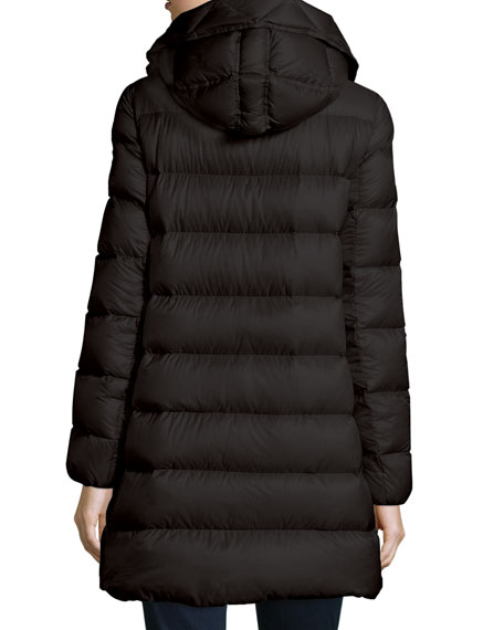 Suyen Lightweight Quilted Puffer Coat, Black