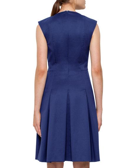 Lace-Up Stretch-Cotton Dress