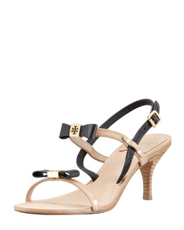 Tory Burch Kailey Two-Tone Bow Sandal