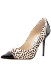 Jimmy Choo Lumina Cheetah-Print Cap-Toe Pump
