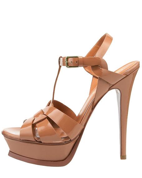 Tribute Patent Platform Sandal, Black