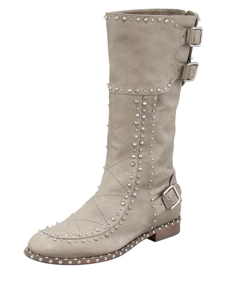Baltazar Stud Buckle  Mid-Calf Boot