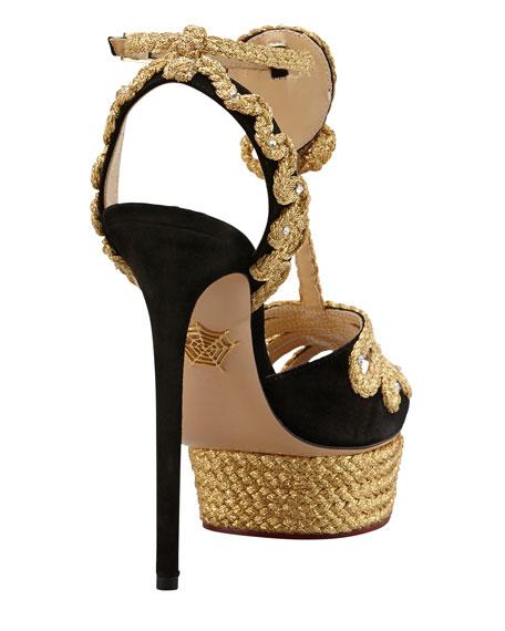 Rapunzel Braided Platform Sandal