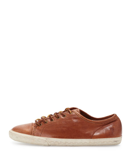 Mindy Low-Top Leather Sneaker