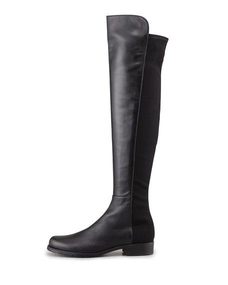 Narrow 50/50 Napa Stretch Over-the-Knee Boot, Black