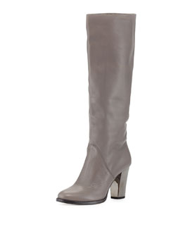 Jimmy Choo Marvel Leather Knee Boot, Light Quartz