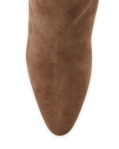 Brunchilee Suede Scrunched Knee Boot, Bisone