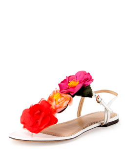 Rosario Floral Flat Thong Sandal