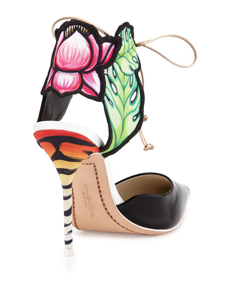Rousseau Jungle Floral Pump, Black/Multi