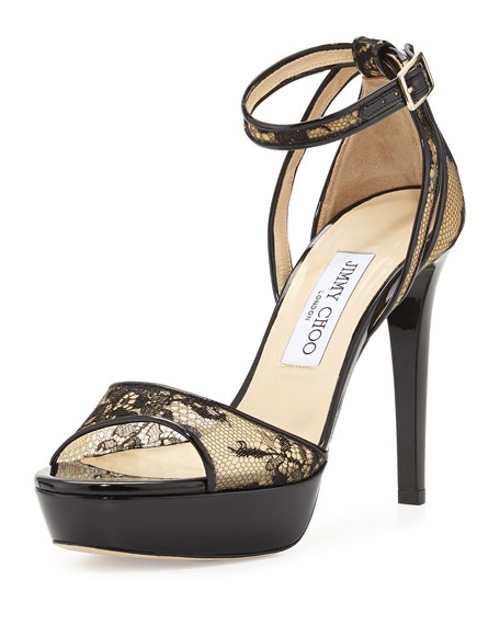 Jimmy Choo Kayden Lace Sandals