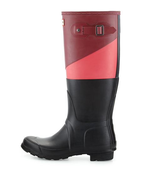 Original Tall Asymmetric Colorblock Welly Boot