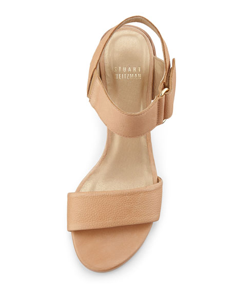 Broadband Leather City Sandal, Pecan