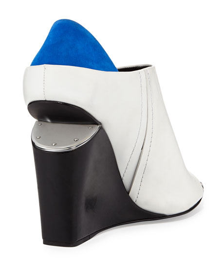 Alla Colorblock Wedge Bootie, Multi/Chalk/Blue