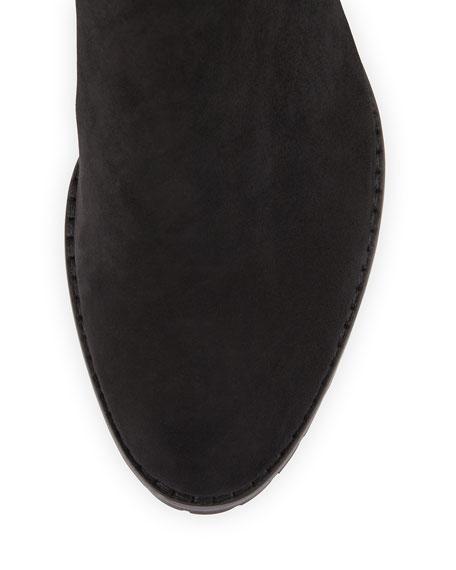 Benji Suede & Python Knee Boot, Black