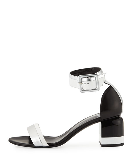 Memphis Leather Block-Heel Sandal