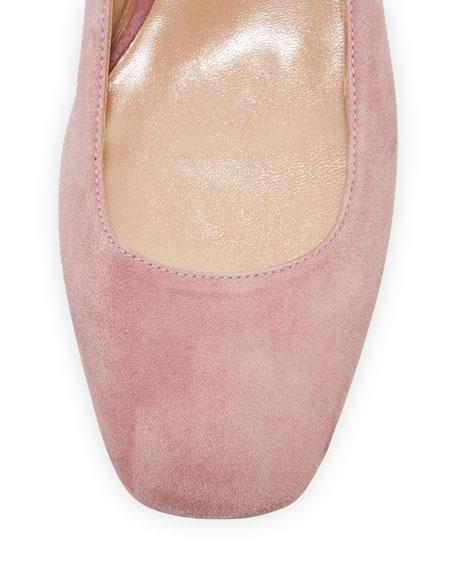 Plum Suede Lace-Up Ballerina Flat