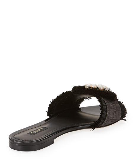 669bd5d86e519 Dolce   Gabbana Embellished Raffia Slide Sandal