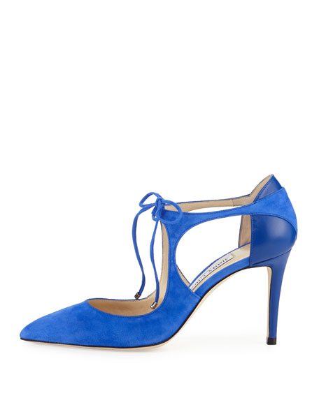 85MM VANESSA SUEDE PUMP WITH