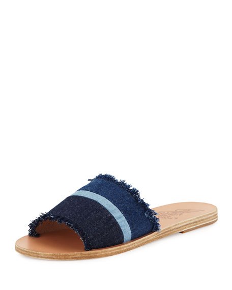 Taygete Calf-Hair Sandal Slide