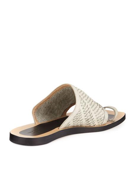 Avril Woven Napa Leather Slide Sandal