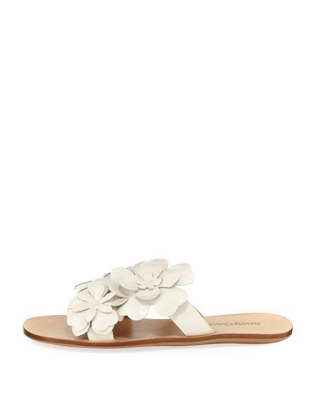 Hina Laser-Cut Flower Slide Sandal