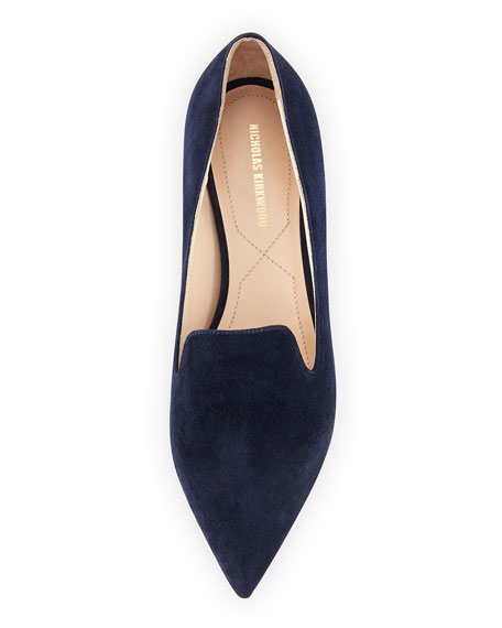 Casati Pearly Suede Loafer, Navy