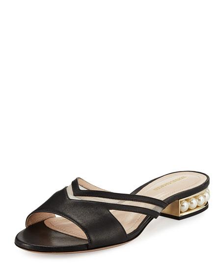 Casati Pearly Mule Sandal, Black