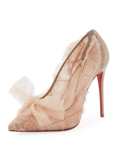 Toufrou Net Red Sole Pump, Nude