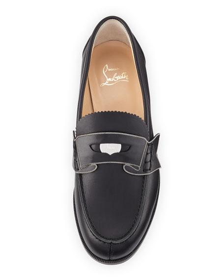 Monana Patent Flat Loafer, Black