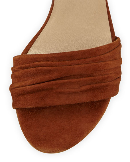 Swifty Suede Ankle-Wrap Sandal