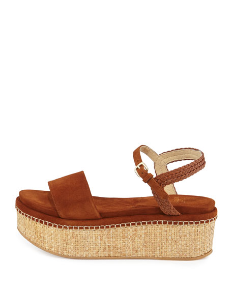 Yourway Suede Espadrille Wedge Sandal