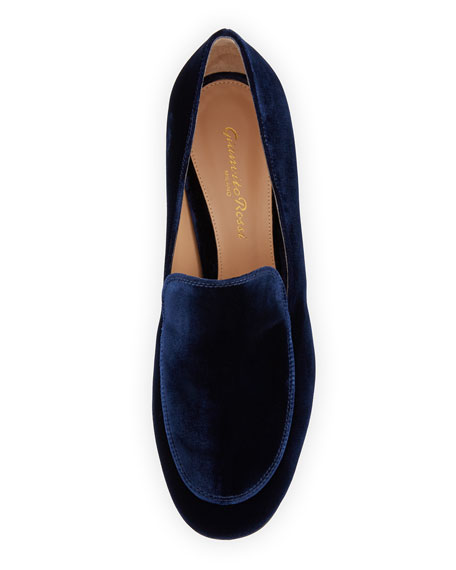 Marcel 60mm Velvet Loafer Pump