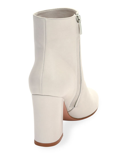 Shelly 85 Napa Leather Block-Heel Boot