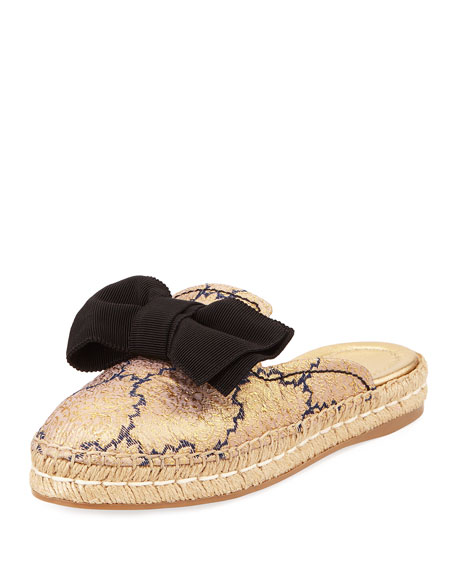 20mm Bow Mule Espadrille, Blue