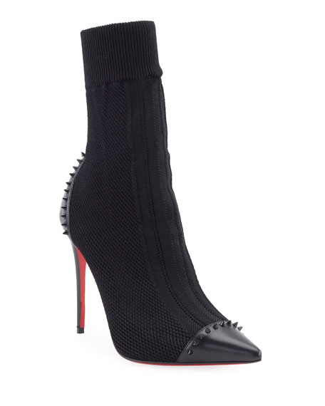 Christian Louboutin Dovi Dova Knit Red Sole Booties,