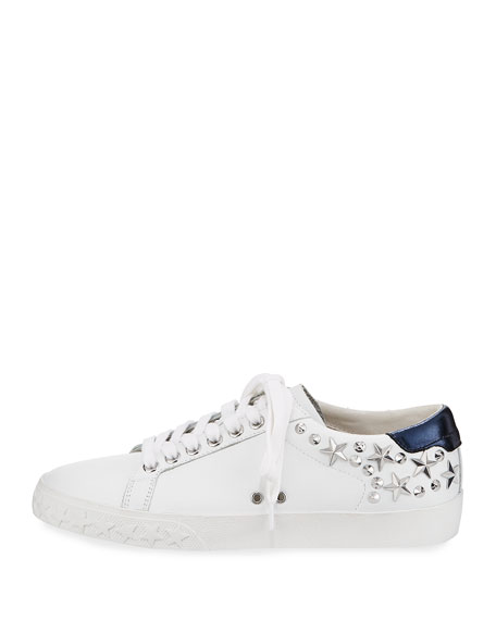 Dazed Studded Low-Top Sneaker, White